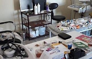 Urfa'da Ruhsatsız Sağlık Merkezine Mühür