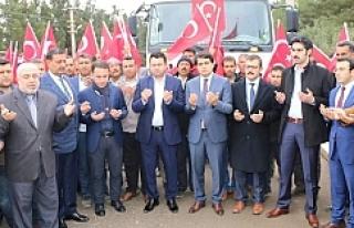 Afrin için Harran'dan yola çıktılar