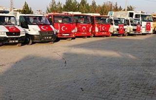 Akçakale Belediyesi'nden Mehmetçik'e Bayraklı...