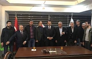 Çelik Türkmenler birliğini ziyaret etti