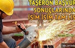 Urfa'da o belediye taşeron kadro listesini açıkladı