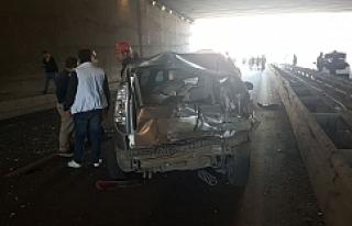 SSK kavşağında zincirleme kaza