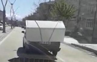 Urfa'da tehlikeli yolculuk