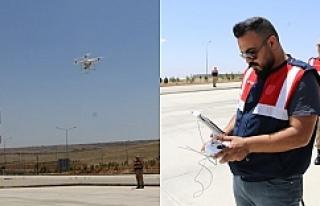 """Bayram Öncesi """"Drone"""" ile Trafik Denetimi"""