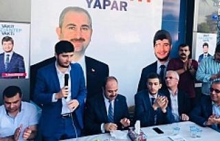 Çiftçi Urfalı adaylara destek verdi..