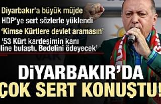 Erdoğan Diyarbakır'da çok sert konuştu