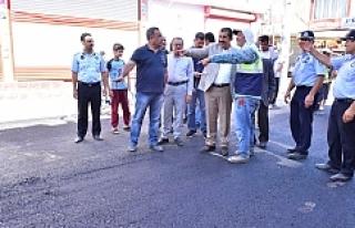 Başkan Atilla, Gazi Caddesi'ndeki Çalışmaları...