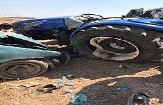 Suruç'ta Kaza 1 Ölü 5 Yaralı
