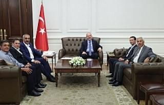 Başkan Bayık, Bakan Süleyman Soylu ile görüştü