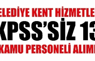 KPSS'siz alım...