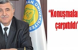 Rektör Taşaltın istifa etti
