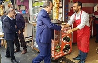 Vekil Özcan Urfa'da esnafı dinledi…