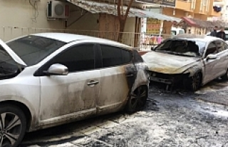 Urfa'da 2 araç kundaklandı!..