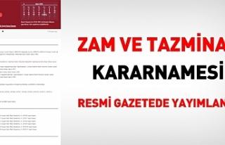 Erdoğan memurlar için imzaladı...