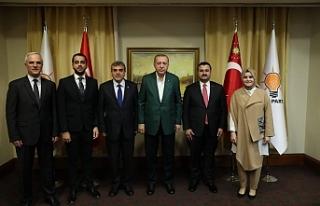 Erdoğan'la görüştüler