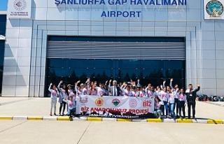 Viranşehirli çocuklar İstanbul ve Trabzon'a uçtu