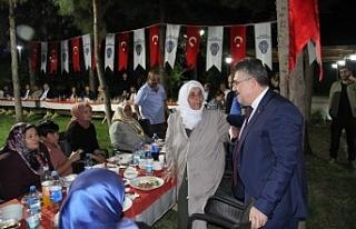 Şehit ve Gazi aileleriyle iftarda buluştular...