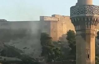 Anız yangınları Urfa Kalesi'ne sıçradı!