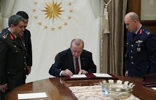 Erdoğan'ın imzasıyla terfi eden isimler...