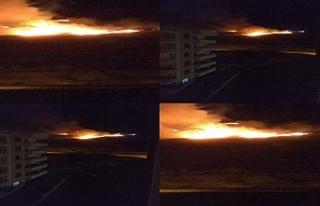Karaköprü gece gece yandı