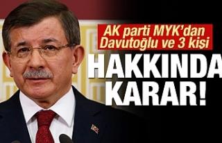 Davutoğlu ile birlikte 3 ismin daha kesin ihracı...