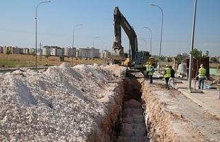 Viranşehir'de alt yapı çalışmaları devam ediyor