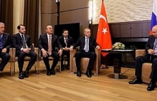 Erdoğan Putin Görüşmesi Sona Erdi;