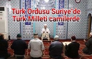 Mehmetçik için camilere akın ettiler...