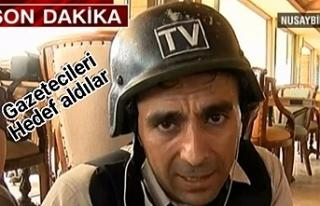 Teröristler canlı yayın yapan gazetecilere ateş...