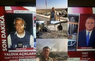 Urfa muhabiri de yaralandı...