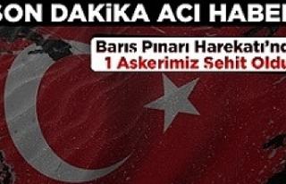 Acı Haber Barış Pınarı Harekatında 1 Asker Şehit...