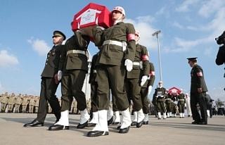 Barış Pınar Harekatı Şehitleri son yolculuğuna...