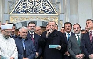 Erdoğan 'Şehrimize yakışan bir eser oldu!'...
