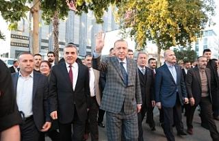 Erdoğan Urfa sokaklarında...