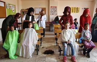 Hilvan Belediyesi saç bakım hizmetine devam ediyor