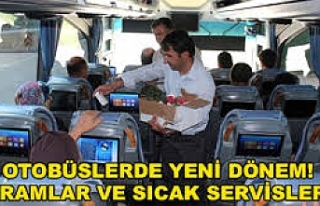 Otobüslerde yeni sistem!