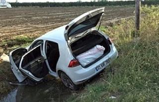 Şanlıurfa'da polisten kaçan arabada uyuşturucu...