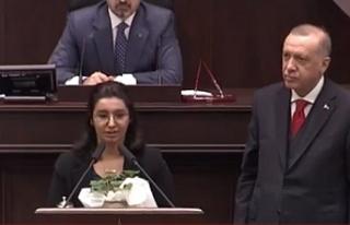 AK Parti grubunu ağlatan şehit kızı