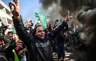 Filistin halkı ayaklandı