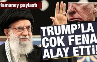 Hamaney yayınladı! Trump'la alay etti