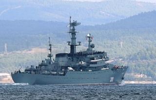 Rus savaş gemisinin zor anları