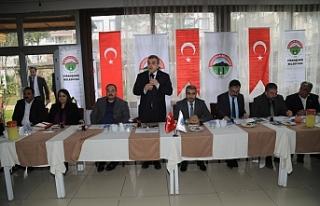 Toplantıya Viranşehir'le devam edildi...