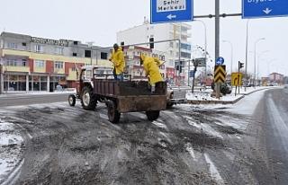 Hilvan Belediyesi karla mücadele ediyor ❄