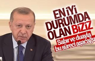 Erdoğan toplantı öncesi konuştu