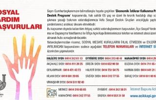 Şanlıurfa'da Yardım Başvuru Telefon Numaraları