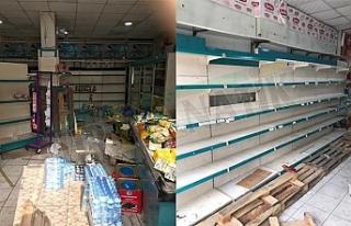 Urfa'da market böyle yağmalandı