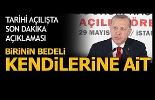 Erdoğan'Birinin bedeli kendilerine ait'