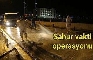 Eyyübiye Belediyesi ilçedeki hastaneyi dezenfekte...