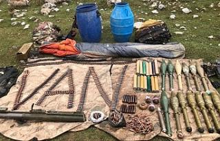 PKK'ya ait roketatar mühimmatı ele geçirildi