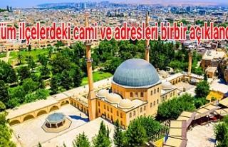 Urfa'da hangi camilerde namaz kılınacak?